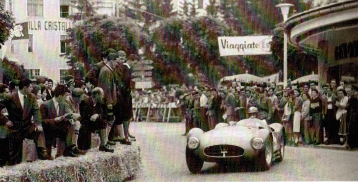 Piero Valenzano su Maserati A6GCS
